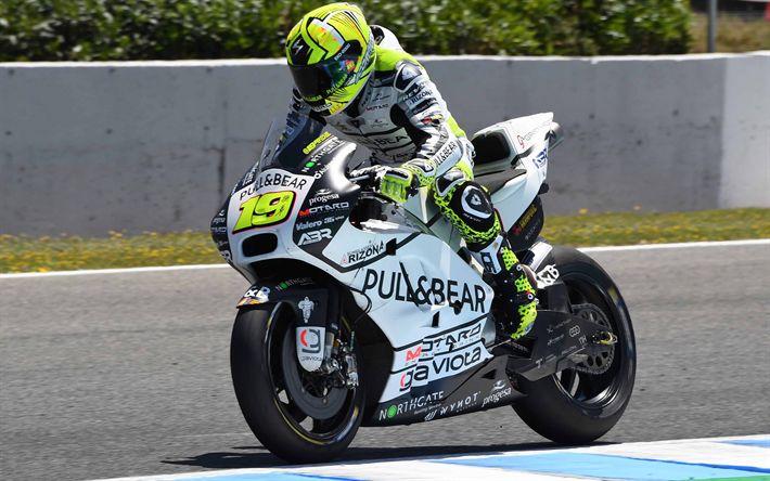 Lataa kuva Alvaro Bautista, 4k, Aspar Racing Team, MotoGP, 2017 polkupyörää, ratsastaja