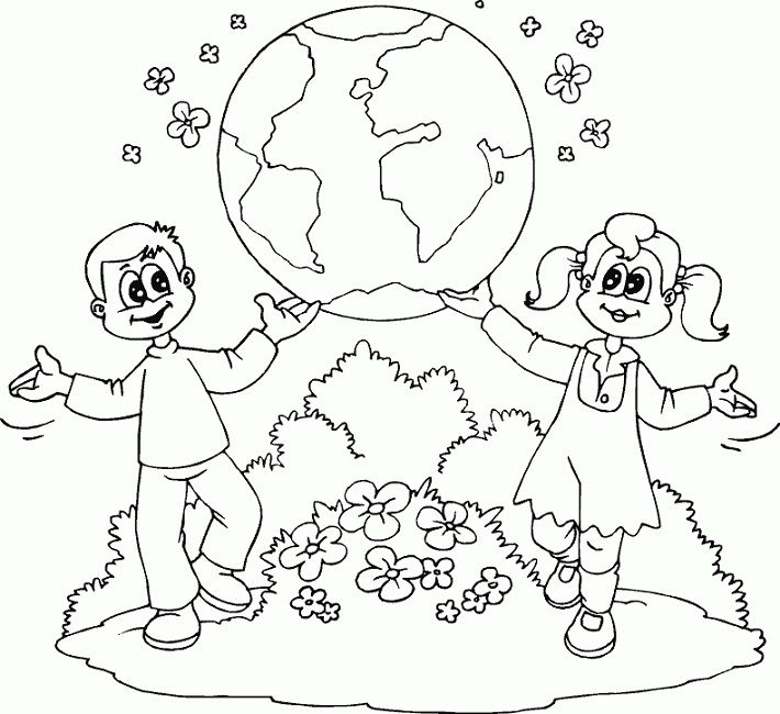 Free Online Earth Day Coloring Pages