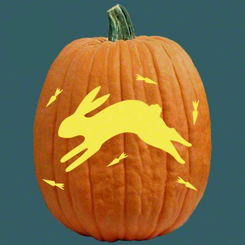 Folk art bunny happy halloween pinterest