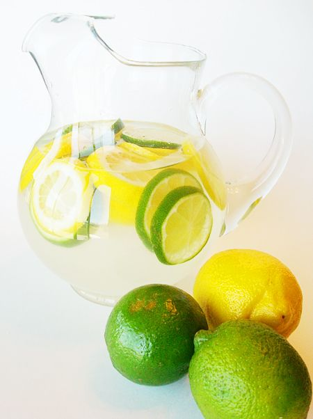 ✮✮✮✮✮ - Citrus Water Punch. Halve recipe for 2. May add mint leaves when serving.
