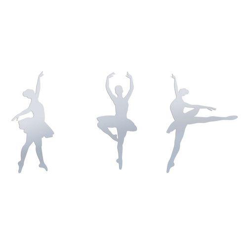 Ensemble de 3 Stickers miroir Danseuse