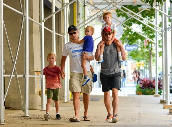Actor Matt Bomer, Bo and family, Could this be more perfect, an actor and his publist.  Fingers crossed... Me someday.