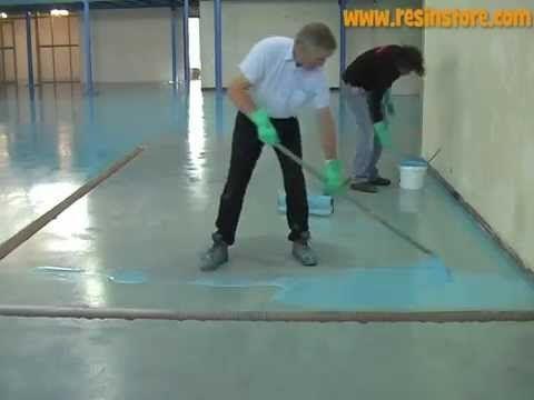 How to apply Epoxy Resin Flooring - Reactive Resins, UK - YouTube
