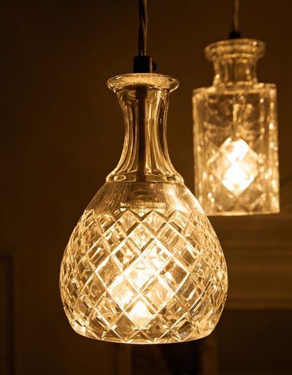 Decanter lighting designed by Lee Broom