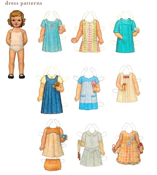Paper Doll Template | Soooo many lovely outfits to choose which one will my dolly (sorry ...