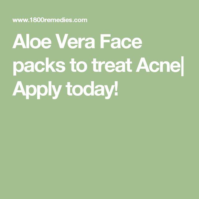 Aloe Vera Face packs to treat Acne| Apply today!