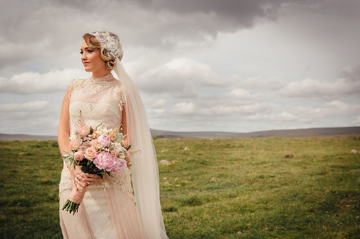 A YolanCris Gown and Skull Cap Veil for a Pregnant Bride and Her Village Hall, Jamboree Style Wedding | Love My Dress® UK Wedding Blog