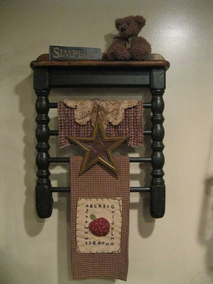 Chair Shelf by Primitive Country Treasures  https://www.facebook.com/pages/Primitive-Country-Treasures/100991083354848
