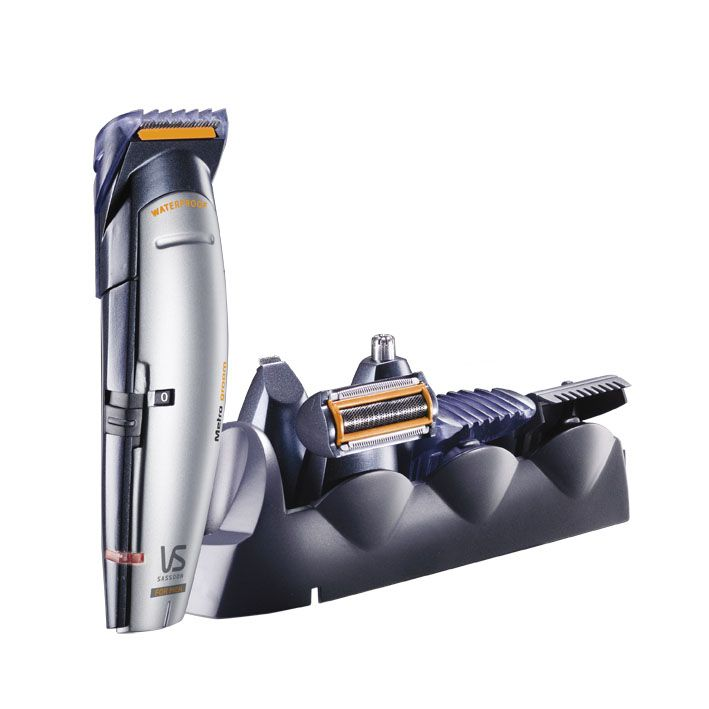 Metro® Groom all-in-one Grooming System - VSM837A The METRO® GROOM ALL-IN-ONE Grooming System empowers you with a new level of custom control thanks to its 4 interchangeable attachments. Rechargeable and waterproof, the Metro Groom is perfect for all type of body grooming, hair cutting and facial hair trimming RRP$59.95 More info here: http://www.vssassoon.com.au/products/mens/VSM837A.aspx