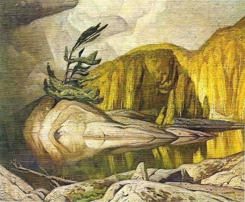 'Summer Storm' by Canadian painter A.J. Casson (1898-1992). via Art Country Canada