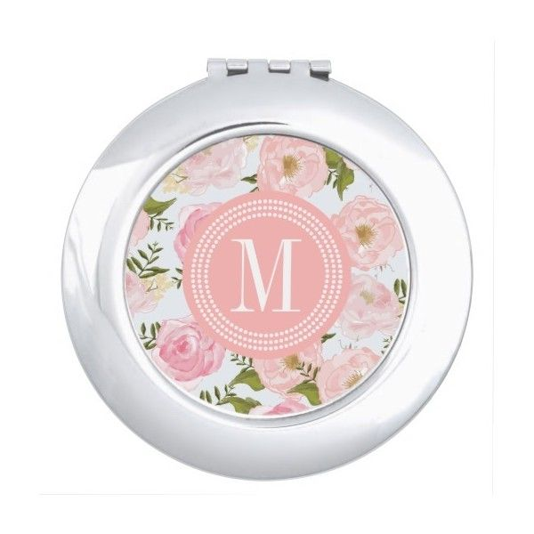 girly vintage floral pink roses peony vanity mirror 20 liked on polyvore featuring home bed u0026 bath bath bath accessories vintage bath