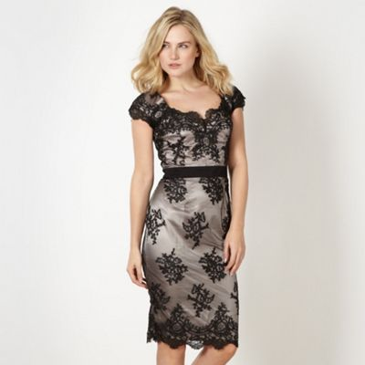 Lipsy Lipsy VIP black lace cap sleeve dress- at Debenhams.com