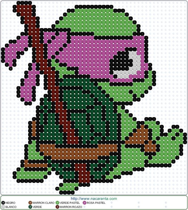 Donatello PATRONES HAMA BEADS Tortugas Ninja