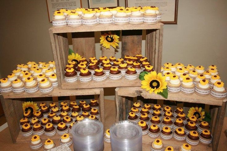 Cupcake Display Using Homemade Crates Whitney And Kyle