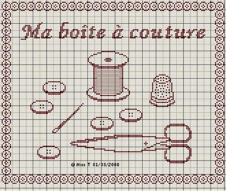 couturière - dressmaker - ma boite à couture - point de croix - cross stitch - Blog : http://broderiemimie44.canalblog.com/