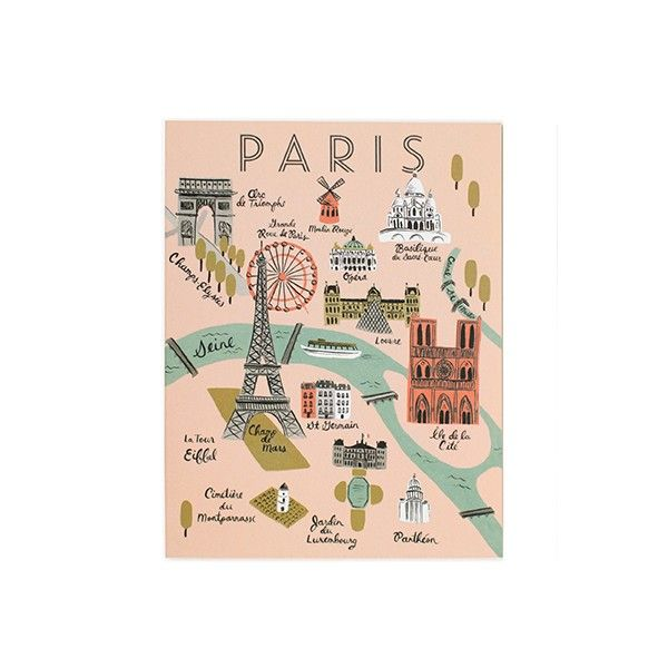 Tarjeta Paris 10x14 cm - Deco & Living