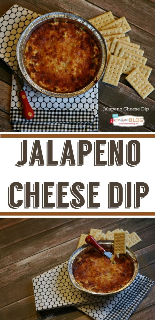 jalapeno cheese dip recipe | This dip recipe is the perfect appetizer for potlucks, parties, game days or holidays! See the recipe on TodaysCreativeLife.com