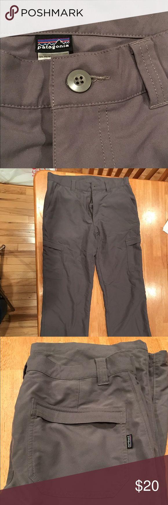 Patagonia Gray Pants Soft, versatile, gray Patagonia pants with two sleek cargo-style pockets Patagonia Pants Chinos & Khakis
