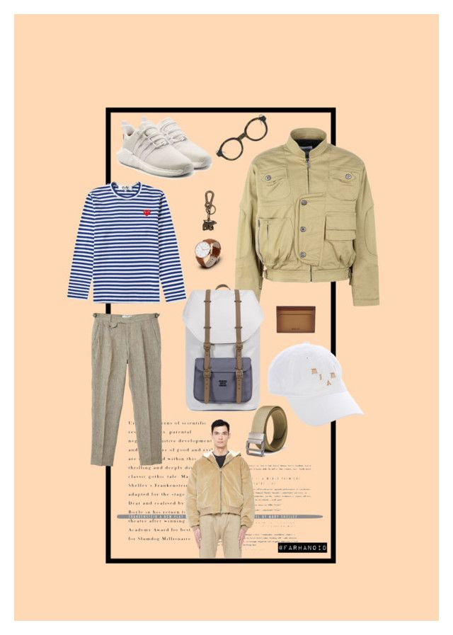 """""""F5"""" by farhanoid on Polyvore featuring Fear of God, Moschino, MANGO MAN, adidas Originals, Herschel Supply Co., Yeezy by Kanye West, Play Comme des Garçons, Dsquared2, Bally and Thom Browne"""
