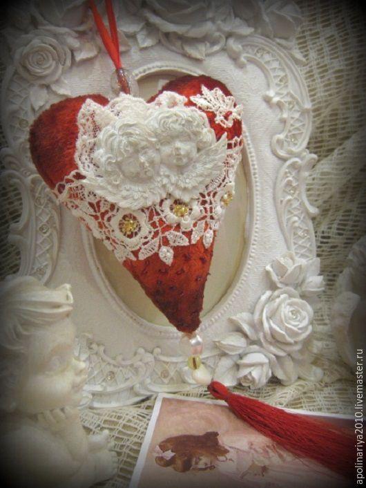 Купить My heart...моё сердце.. - ярко-красный, сердце, сердце в подарок, сердце подвеска