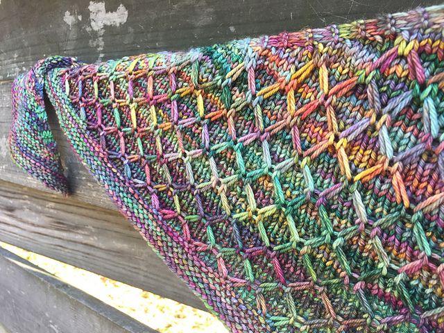 The Colourist by Lisa Hannes, knitted by YarnBandit   malabrigo Rios in Arco Iris