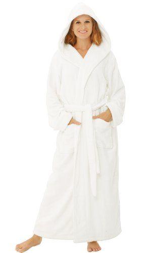 Women S Luxurious Terry Cotton Full Length Hooded Bathrobe