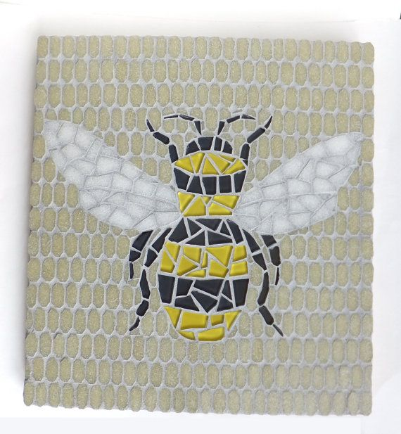Bee Mosaic Honeybee Wall Decor Bumblebee Art Via Etsy