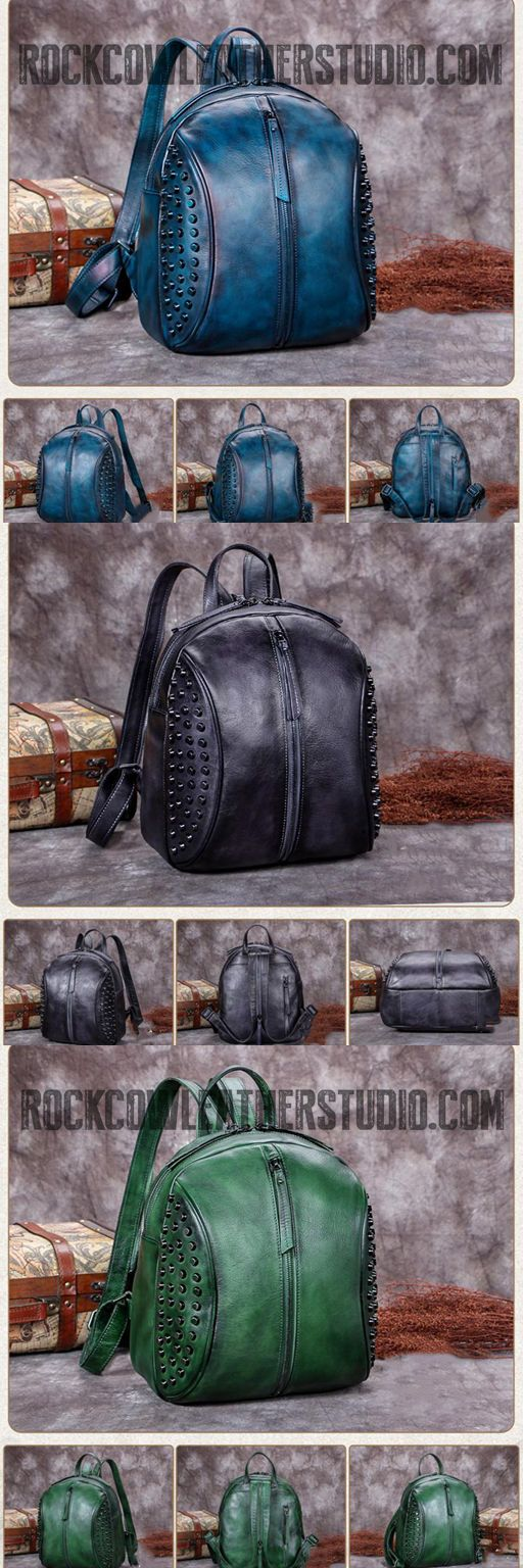 New Arrival Leather Fashion Bag Vintage Backpack College School Bag For Women A0213