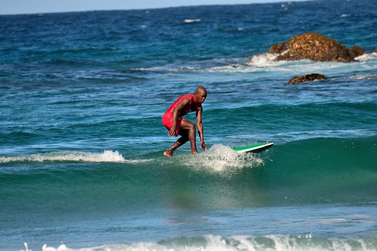 Surfing at Glenmore Beach in Glenmore, KwaZulu-Natal
