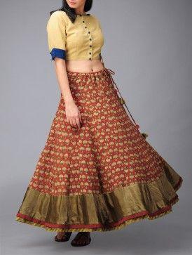 Floral Kalidar Cotton Skirt (Free Size). On Jaypoe. Stunning!