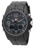 U.S. Polo Assn. Men's US9058 Analog-Digital Black Dial Black Rubber Strap Watch