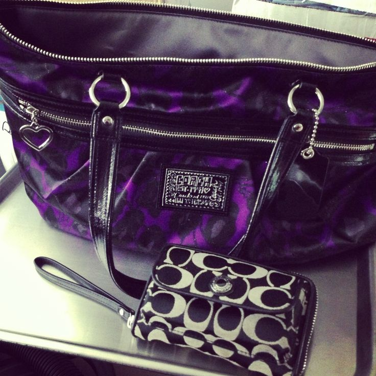 My coach purse obsession love this purple especially for fall