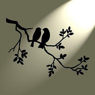 """Solitarydesign Трафарет Шаблон 2птицы в дерево в деревенском стиле""""contract"""" Mylar Формата А4297x 210мм"""