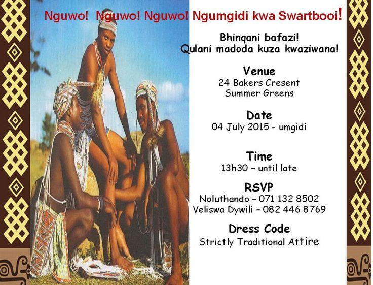Umgidi Invitations | rashidablair.com