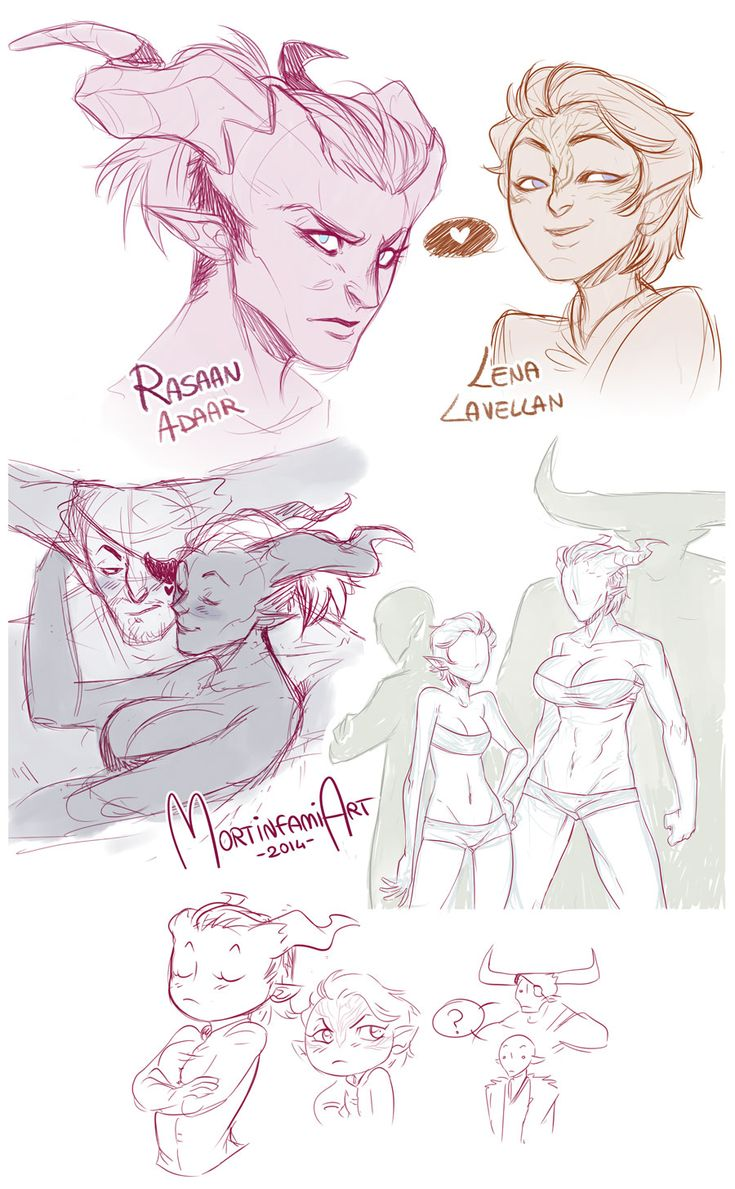 Dragon Age Inquisition - sketchdump #2 by mortinfamiART on DeviantArt