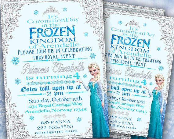 Frozen Invitation  Frozen Birthday Invitation  by Hottomatoink2