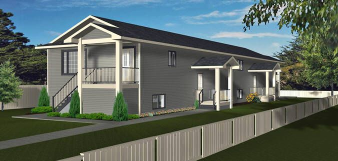 Plan 2013712 narrow lot 4 plex by 4 plex plans narrow lot