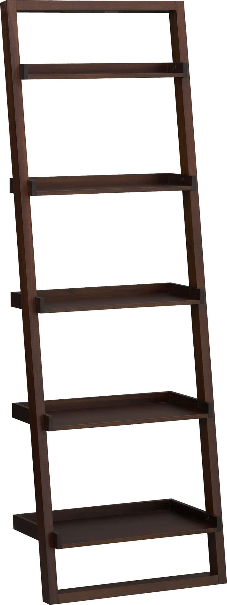 Sloane Java 25 5 Leaning Bookcase Crate And Barrel 129