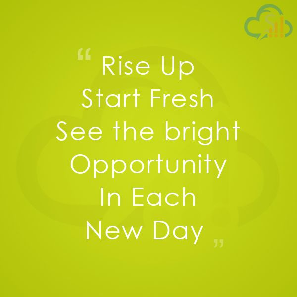"""""""A NEW DAY"""", a new HOPE, a new Platform to Start Again towards GOALS. - SalesBabu CRM"""