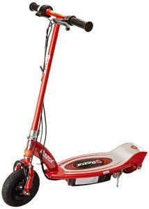 Razor Scooters: Razor E100 Electric Scooter Boasting a high-torque, ultra-quiet chain-driven motor, and a handy twist-grip throttle. Uses a simple kick start motor and can travel at powerful speeds up to 10 mph. Powered by a long lasting rechargeable 24V Seal battery system.  http://awsomegadgetsandtoysforgirlsandboys.com/razor-scooters/ Razor Scooters: Razor E100 Electric Scooter