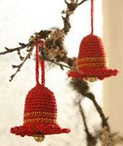 Jingle Bell Ornaments   AllFreeCrochet.com