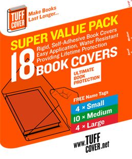 Super Value Pack - TuffCover Book covers available on www.tuffcover.net