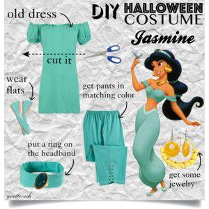 diy halloween costume princess jasmine easy idea - Disney Princess Halloween Costumes Diy