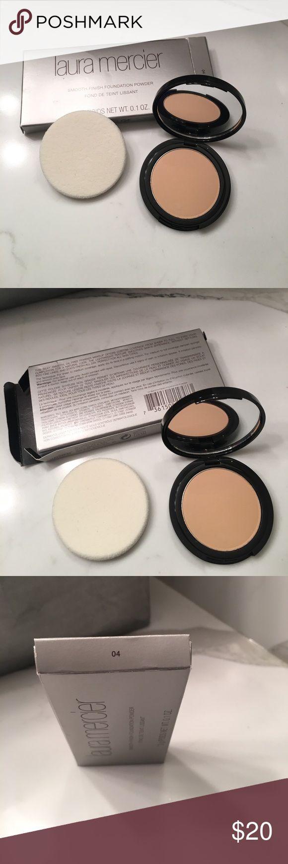 New in box- Laura Mercier foundation powder- #4 New in box- Laura Mercier smooth finish foundation powder- #4.  Comes with new sponge. laura mercier Makeup Face Powder