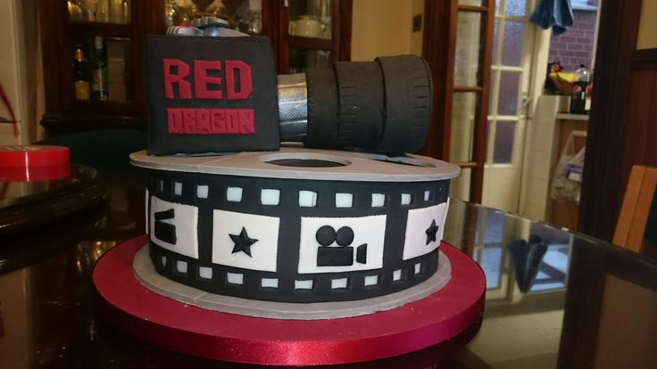 Film cake with camera