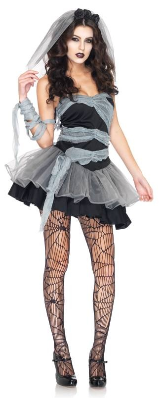 Dead And Buried Bride Zombie Adult  Halloween Costume for Women.