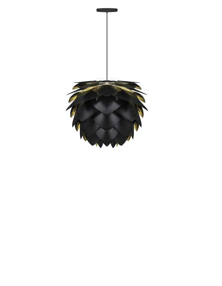 The Vita Silvia small black and gold pendant shade will add lustrous elegance and glamour to your room. H 34 x W 27cm, flat-packed for self-assembly
