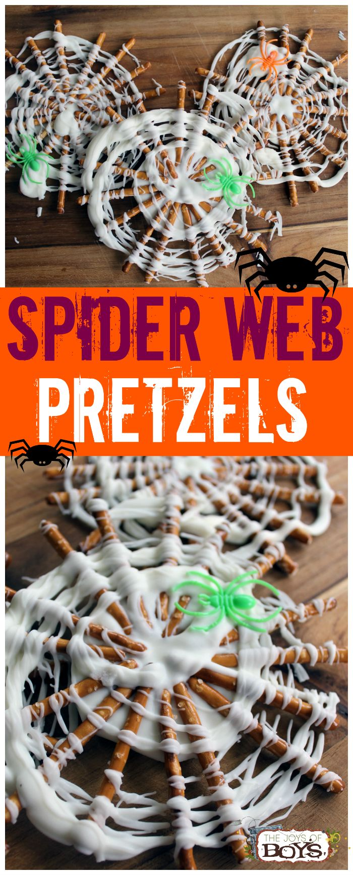 Spider Web Pretzels – Easy Halloween Treat for Kids