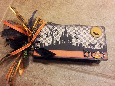Mini Album Cookbook: Halloween Mini Album with pull-out tags