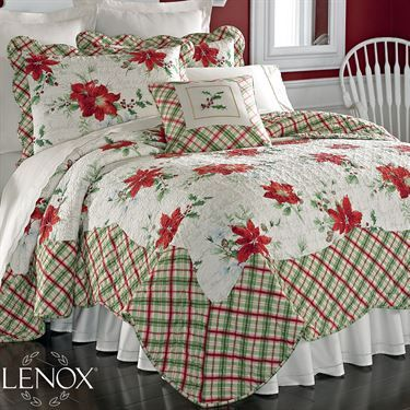 Lenox Winter Wishes Holiday Quilt Bedding Z
